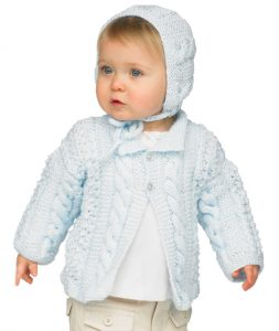 Cable Knit Jacket and Hat Free Knitting Pattern