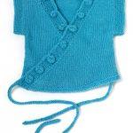 Caron Yooji Kimono Vest Free Easy Baby's Vest Knit Pattern