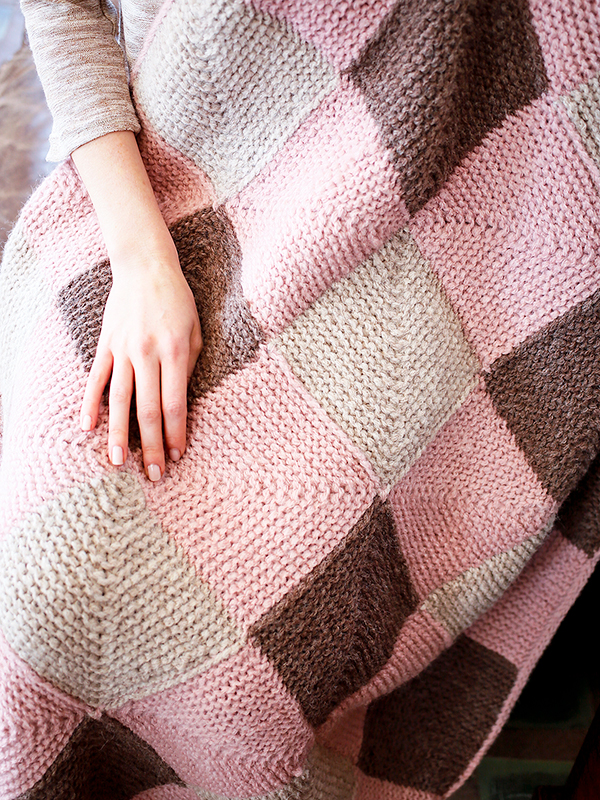 Modular Blocks Blanket Free Knitting Pattern