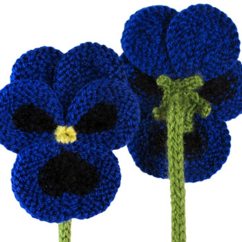 Pansies to Knit - Free Pattern