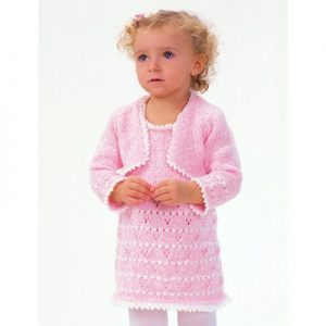 Party Girl Set Cardi and Dress Free Knitting Pattern