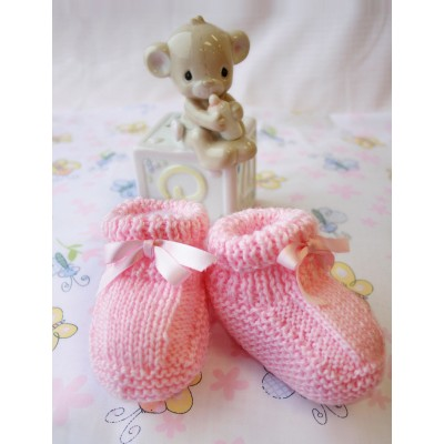 Patons Beehive Booties Free Knitting Pattern