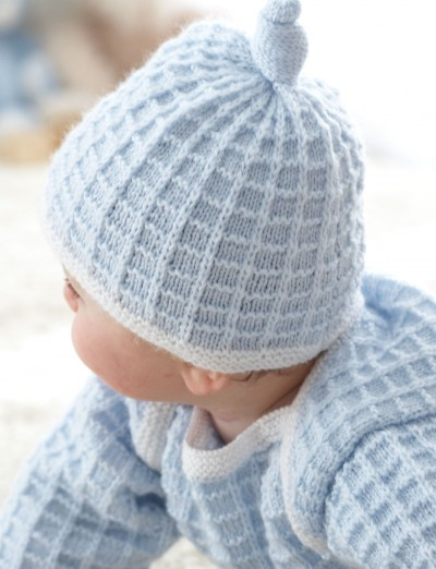 Patons Little Check Mate Set Sweater and Hat Knitting ...