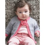 Patons Pretty Bow Tie Baby Cardigan Free Easy Baby's Knit Pattern