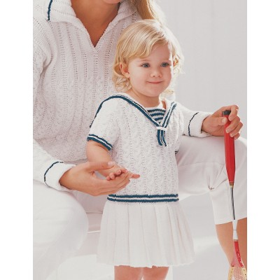 Patons Sailor Dress Free Knitting Pattern for Little Ones