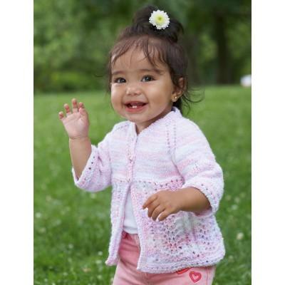 Pretty Kiddy Cardigan Free Intermediate Baby's Knit Pattern