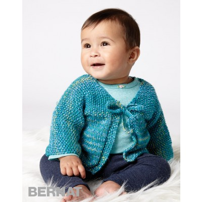 Quick Stitch Cardigan Free Knitting Pattern for Baby