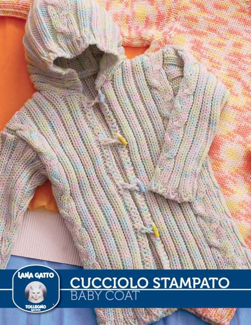 Ribbed Baby Coat Free Knitting Pattern