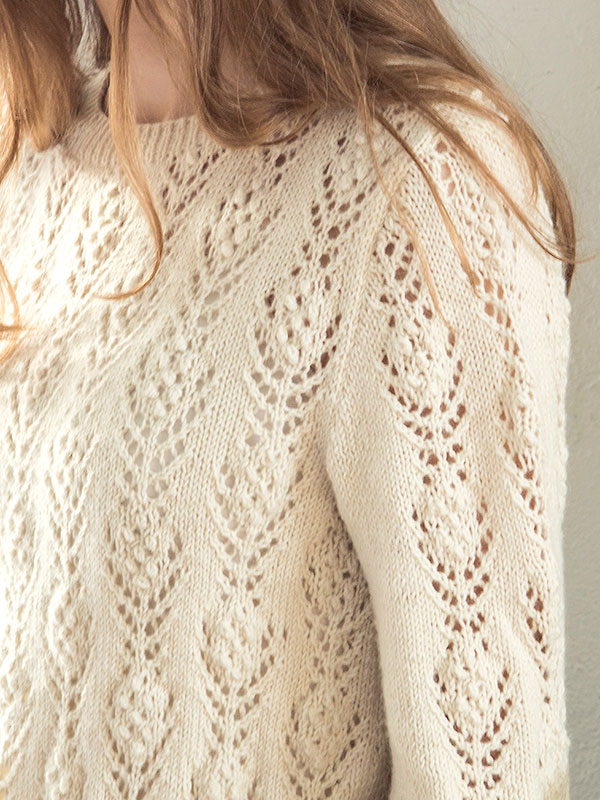 Rosabella Free Lace Flower Sweater Knit Pattern