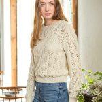 Rosabella Free Lace Flower Sweater Knit Pattern
