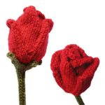 Roses Free Flower Knitting Pattern