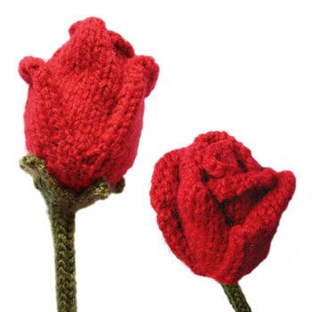 Roses Free Flower Knitting Pattern