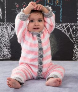 Royal Knit Onesie Free Knitting Pattern
