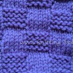 Stockinette & Garter Checks Free Knitting Stitch from Knitting Bee www.knitting-bee.com