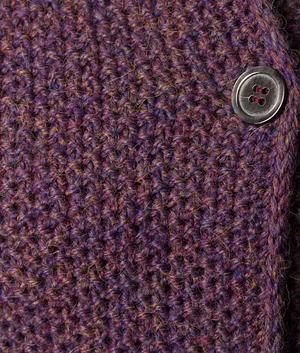 Asia Long Seed Stitch Coat Free Knitting Pattern