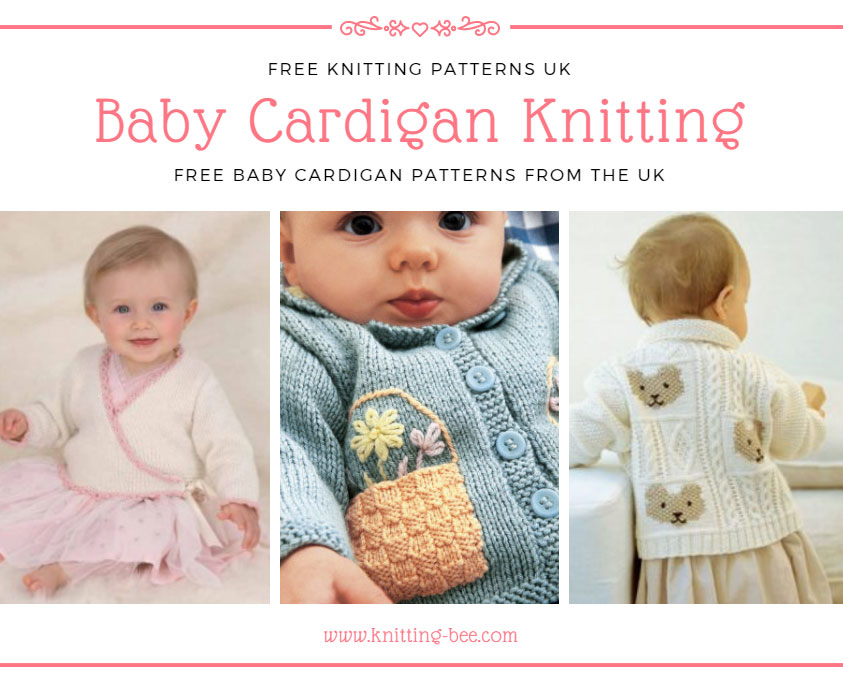 Baby Cardigan Knitting Patterns Free UK by https://www.knitting-bee.com