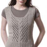 Badia Scoop Neck Tank Free Knitting Pattern