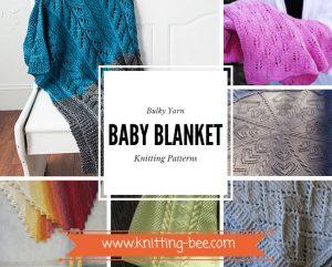 Bulky Yarn Baby Blanket Knitting Patterns www.knitting-bee.com
