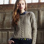 Cable Panelled Sweater Free Knitting Pattern