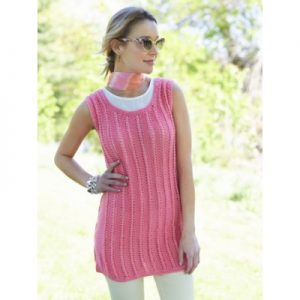Caron Knit Tank Tunic Free Knitting Pattern