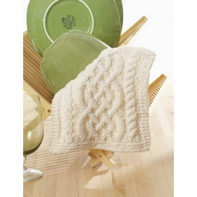 Celtic Cables Dishcloth Free Knitting Pattern Knitting Bee