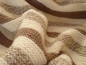 Chocolate Vanilla Swirl Baby Blanket