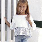 Cotton Girls Crop Top Free Knitting Pattern