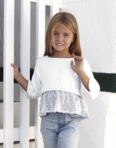 Cotton Girls Crop Top Free Knitting Pattern