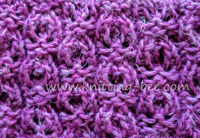 Dewdrop Lace Stitch - Free Knitting Stitch www.knitting-bee.com