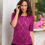 Diamond Girl Top Free Summer Knitting Pattern