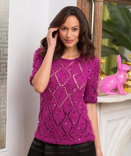 Diamond Girl Top Free Summer Knitting Pattern
