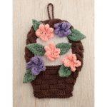 Flower Basket Dishcloth Free Knitting Pattern