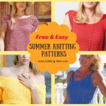 Free Easy Summer Knitting Patterns www.knitting-bee.com