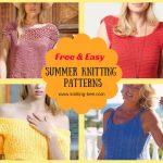 Free Easy Summer Knitting Patterns www.knitting-bee.com