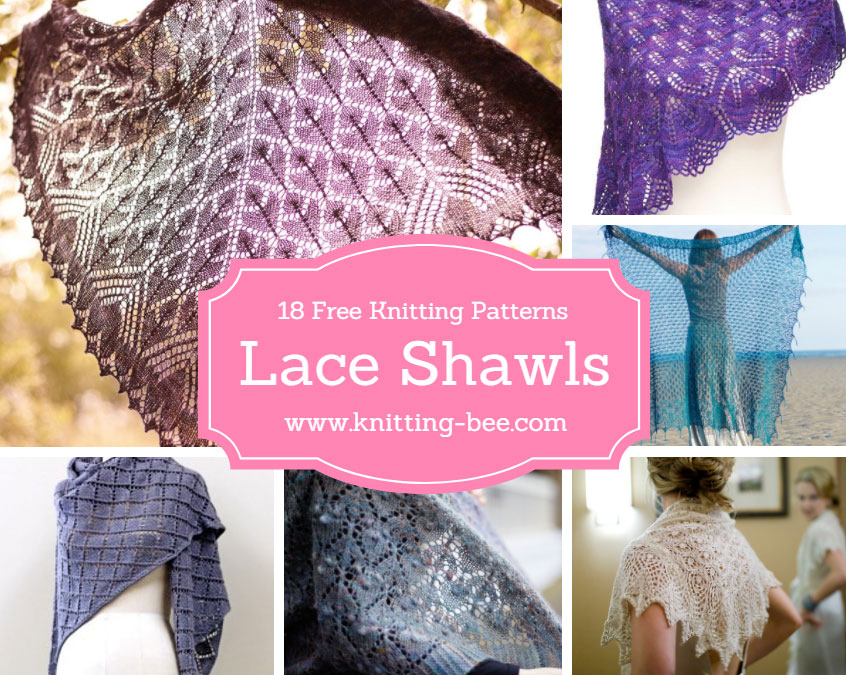 18 Beautiful Free Lace Shawl Knitting Patterns