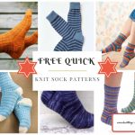 Free Quick Knit Sock Pattern www.knitting-bee.com