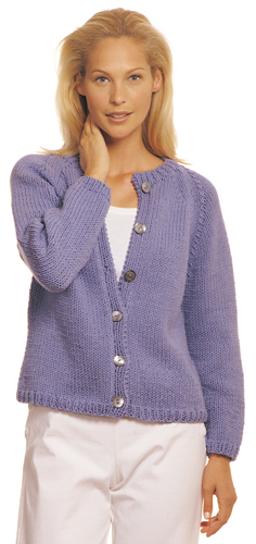 Free Stockinette Raglan Cardigan Knitting Pattern