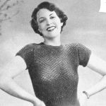 Free Vintage Knitting Pattern - In Honeycomb Stitch from 1935