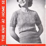 Free Vintage Knitting Pattern from 1930's – Harlequin