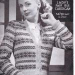 Free WW2 Knitting Pattern – La Laine Fair Isle Cardigan