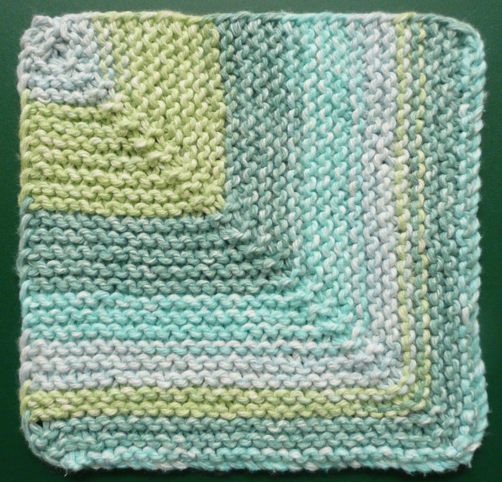 Free Bias Garter Stitch Dishcloth Pattern Patterns Knitting Bee