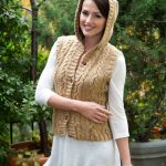 Hooded Cable Vest Free Knitting Pattern
