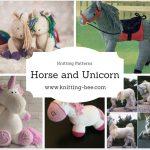 Horse and Unicorn Knitting Patterns http://www.knitting-bee.com/