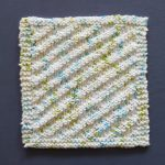 Into the Wind Dishcloth Free Knitting Pattern