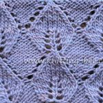 Knitted Leaf in Reverse Stockinette Free Knitting Stitch www.knitting-bee.com