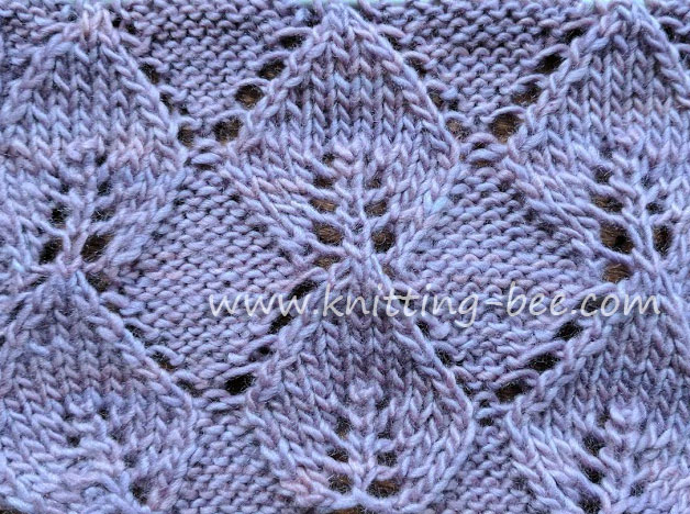 Knitted Leaf In Reverse Stockinette Free Knitting Stitch Knitting Bee
