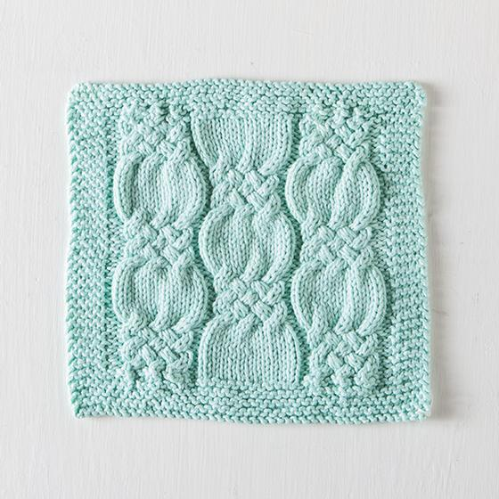 Knotted Cables Washcloth Free Knitting Pattern