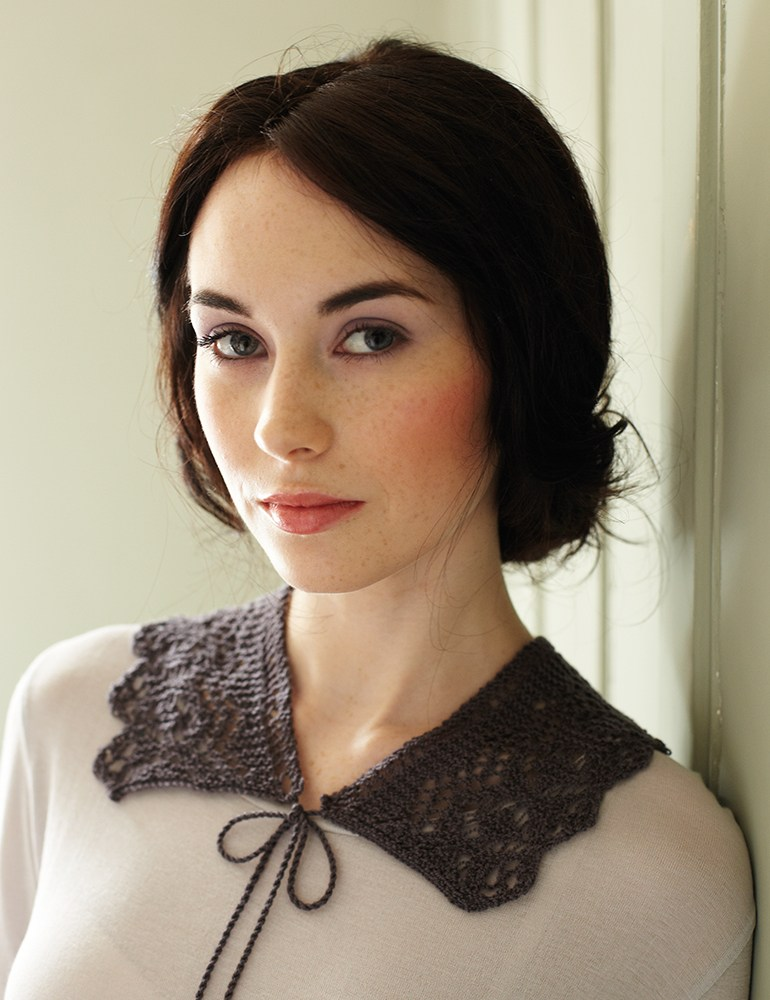 Lace Collar Free Knitting Pattern