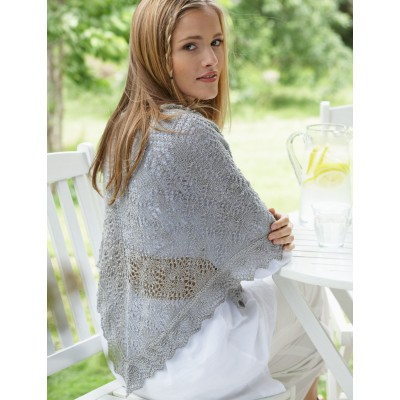 Lace Knit Shawl Free Knitting Pattern