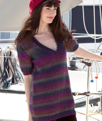 Monique's Tunic Free Knitting Pattern for Women